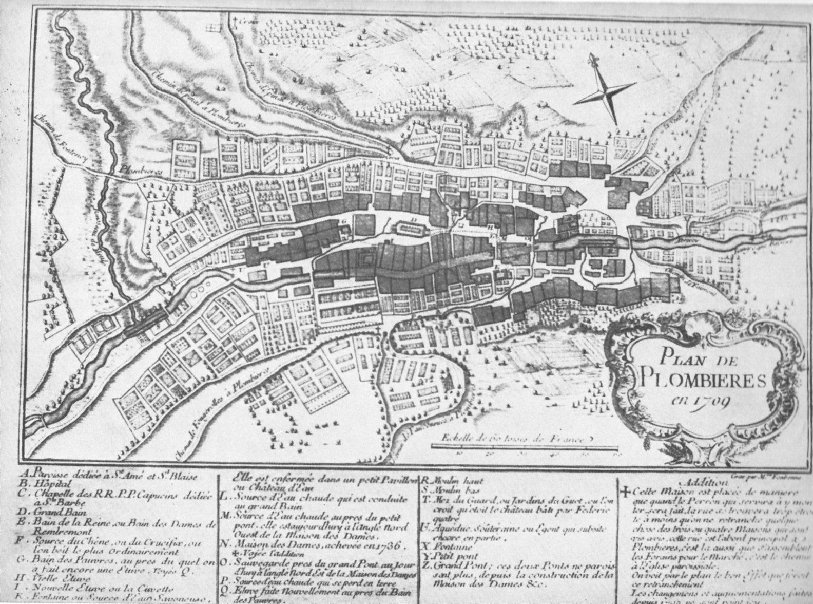 Plan de Plombières de 1709