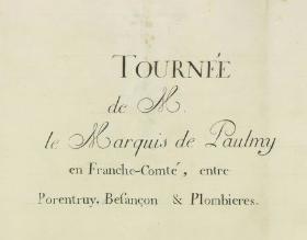 Plombières carte de 1855