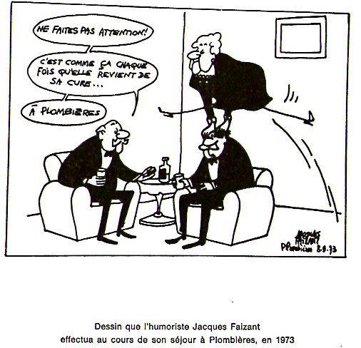 Jacques Faizant à Plombières
